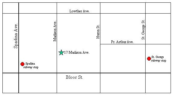 Map to 17 Madison Ave.